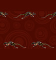 seamless horizontal border pattern with kangaroos vector image vector image