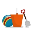 set baby toys icon vector image
