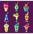 Smoothies And Sweet Multilayered Cocktails vector image vector image