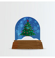 snow ball snow globe with snow fall and christmas vector image vector image