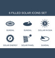 solar icons vector image vector image