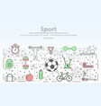 sport advertising in flat vector image