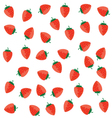 strawberry color red on a white vector image vector image