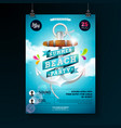 summer beach party flyer design with anchor vector image