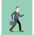 Time for Invest Man With Briefcase vector image vector image