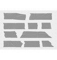transparent tape adhesive stripes isolated vector image vector image