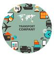 Transport company emblem vector image