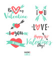 valentines day label set vector image