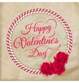 Valentines day lacy paper heart card EPS 10 vector image