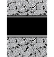vector damask frame vector image vector image