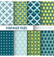 Vintage Tile Backgrounds vector image vector image