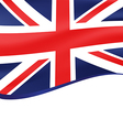 Waving flag of united kingdom background vector image vector image
