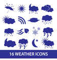 weather icons set eps10 vector image vector image