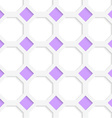 White 3D with colors purple diamonds vector image