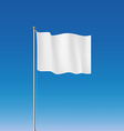 White flag Stock vector image vector image