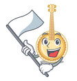 with flag miniature banjo in the cartoon shapes vector image