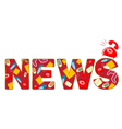 word news vector image