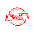 Special offer rubber stamp on white vector image
