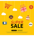 Sale background with shop icons sale banner vector image