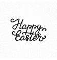 Happy Easter - ink freehand lettering vector image