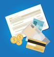 bank account book statement paper money finance vector image