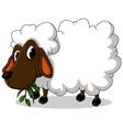 cute sheep cartoon vector image