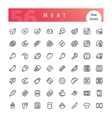 Meat Line Icons Set vector image