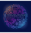 Airport colorful round vector image vector image