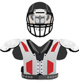American football helmet and armour vector image