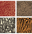 Animal color background vector image vector image