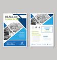 annual report brochure flyer design template vector image vector image