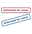 Approved By Legal Rubber Stamps vector image vector image