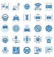 autonomous vehicle av colored icons - car