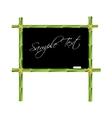 Bamboo blackboard vector image