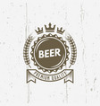 beer cap isolated vintage label with ribbon vector image vector image