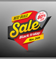 black friday sale banner template special offer vector image vector image