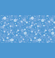 blue christmas snowflakes repeat pattern vector image vector image
