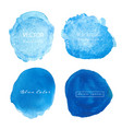 blue watercolour circle set on white background vector image vector image