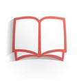 book icon paper vector image vector image