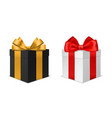 box gift with bow black and white vector image