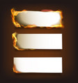 Burning Paper Set vector image vector image