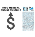 Business Growth Icon with 1000 Medical Business vector image vector image