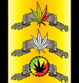 Cannabis leaf paper parchment design vector image vector image