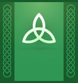 celtic knot ornament and triquetra symbol vector image vector image
