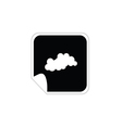 cloud weather icon vector image vector image