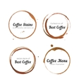 Coffee stain circles for logo vector image vector image