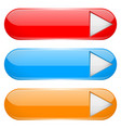 colored menu buttons with white arrow oval glass vector image vector image