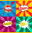 comic speech bubble cartoon vector image vector image