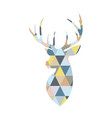 deer head formed by triangular multicolored vector image vector image