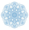 Ethnic mandala symbol for coloring book vector image